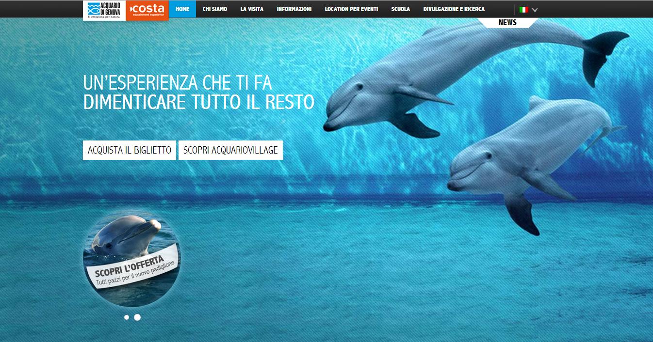 il nuovo sito dell'acquario di genova - la freccia verde | la ... - Acquario Genova Orari Prezzi