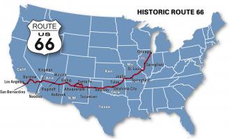 mappa route 66